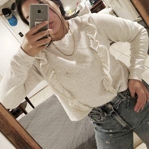 AEROPOSTALE Pullover ruffle crop sweater size M